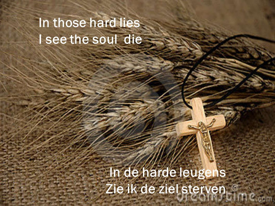 In those hard lies I see the soul die In de harde leugens Zie ik de ziel sterven