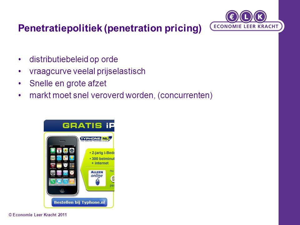 Penetratiepolitiek (penetration pricing)