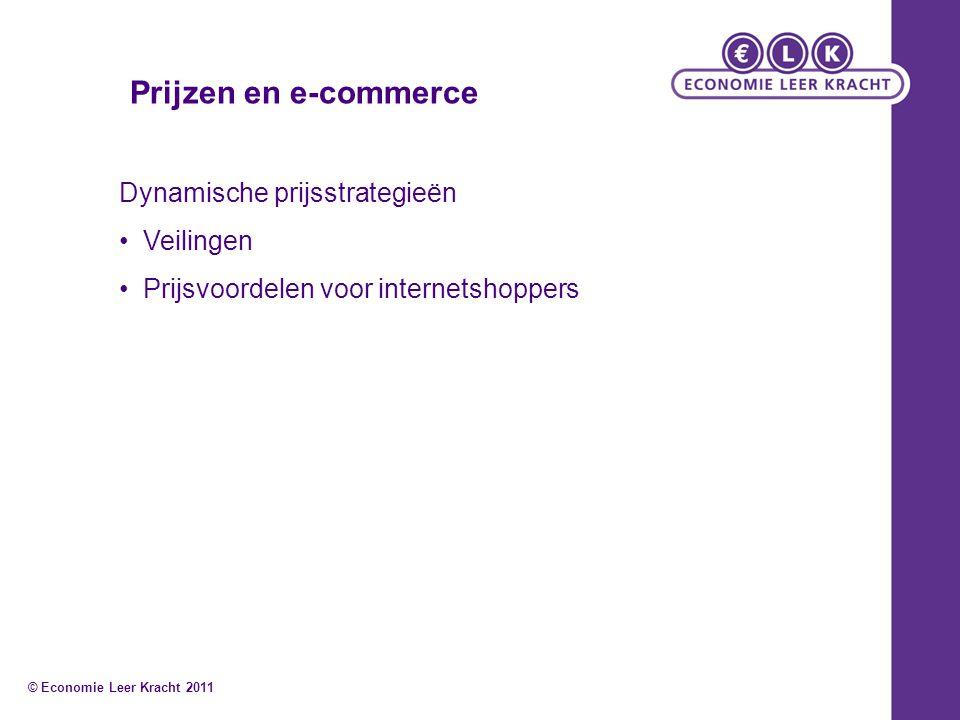 Prijzen en e-commerce Dynamische prijsstrategieën Veilingen