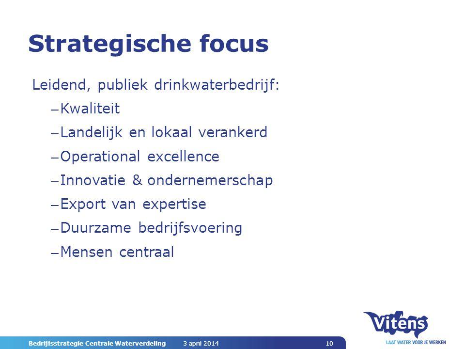 Strategische focus Leidend, publiek drinkwaterbedrijf: Kwaliteit