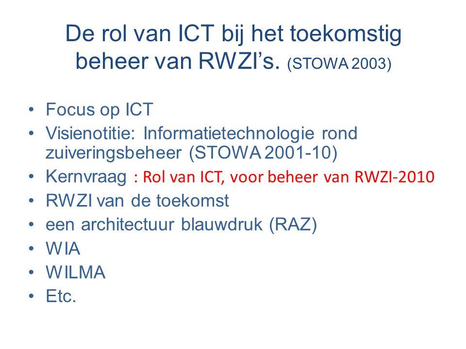 De rol van ICT bij het toekomstig beheer van RWZI's. (STOWA 2003)