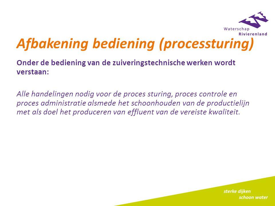 Afbakening bediening (processturing)