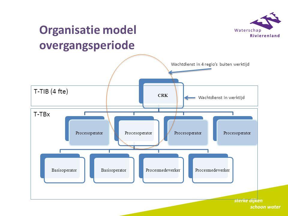 Organisatie model overgangsperiode