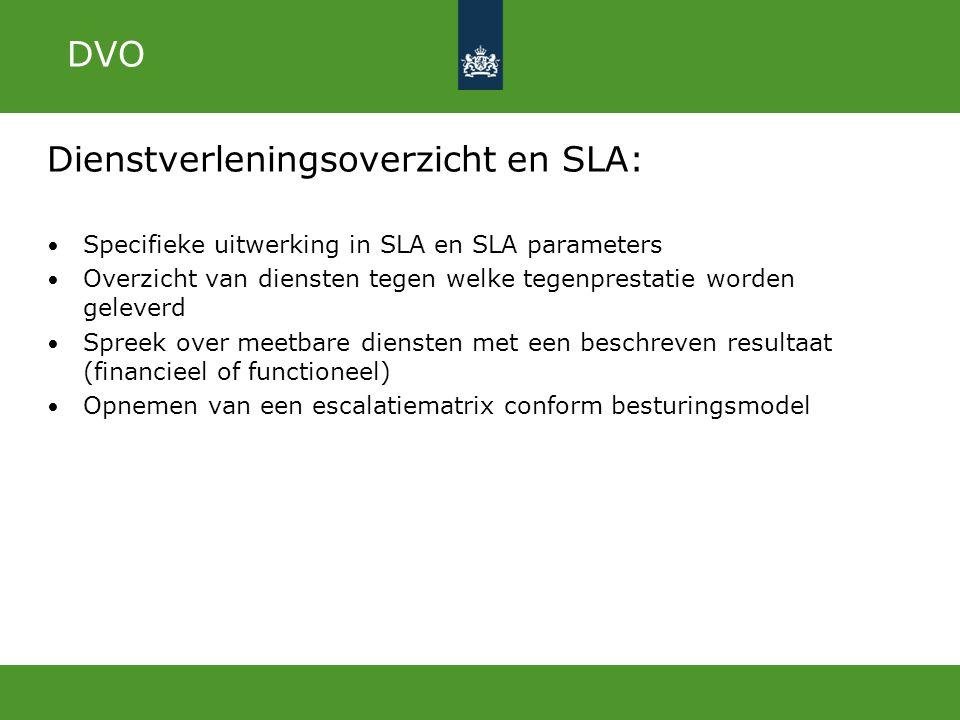 Dienstverleningsoverzicht en SLA:
