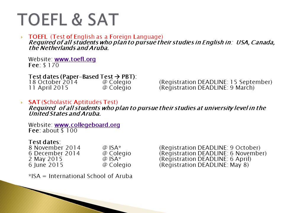 TOEFL & SAT