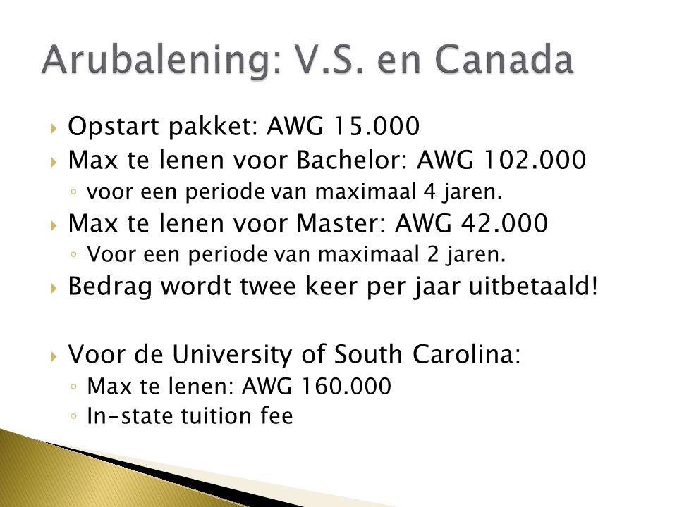 Arubalening: V.S. en Canada