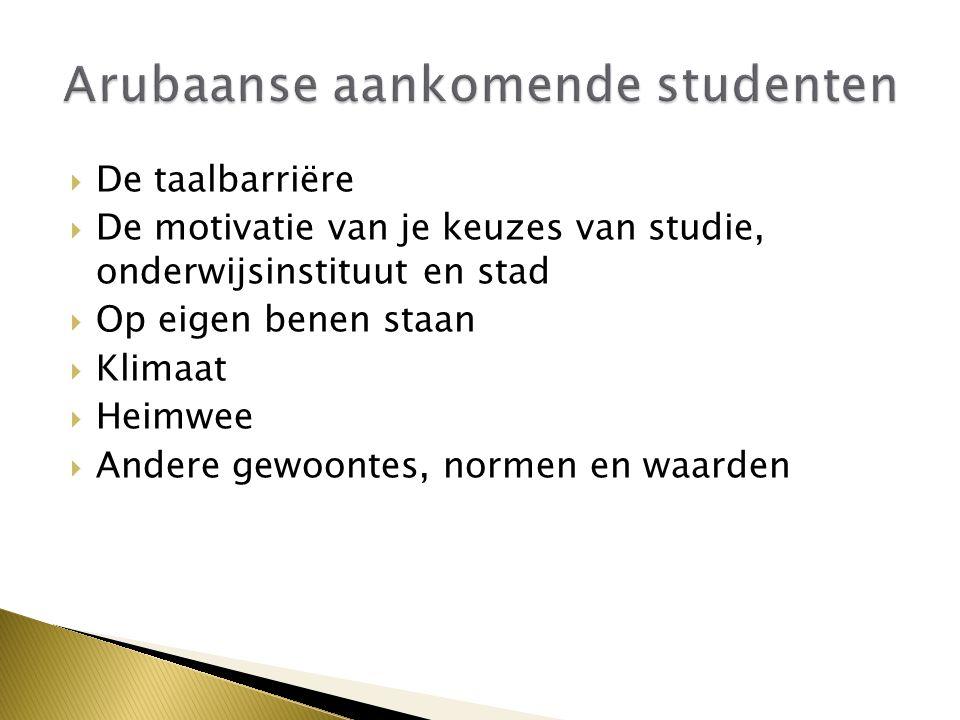 Arubaanse aankomende studenten
