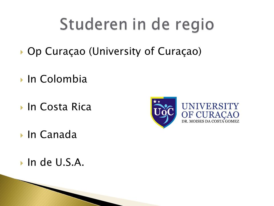 Studeren in de regio Op Curaçao (University of Curaçao) In Colombia