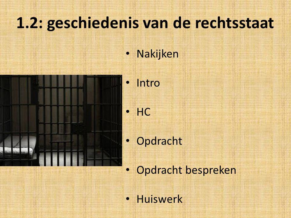 1.2: geschiedenis van de rechtsstaat