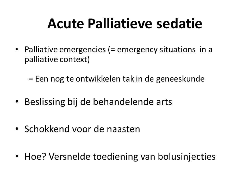 Acute Palliatieve sedatie