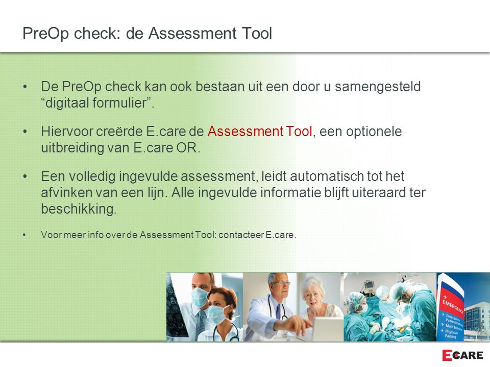 PreOp check: de Assessment Tool
