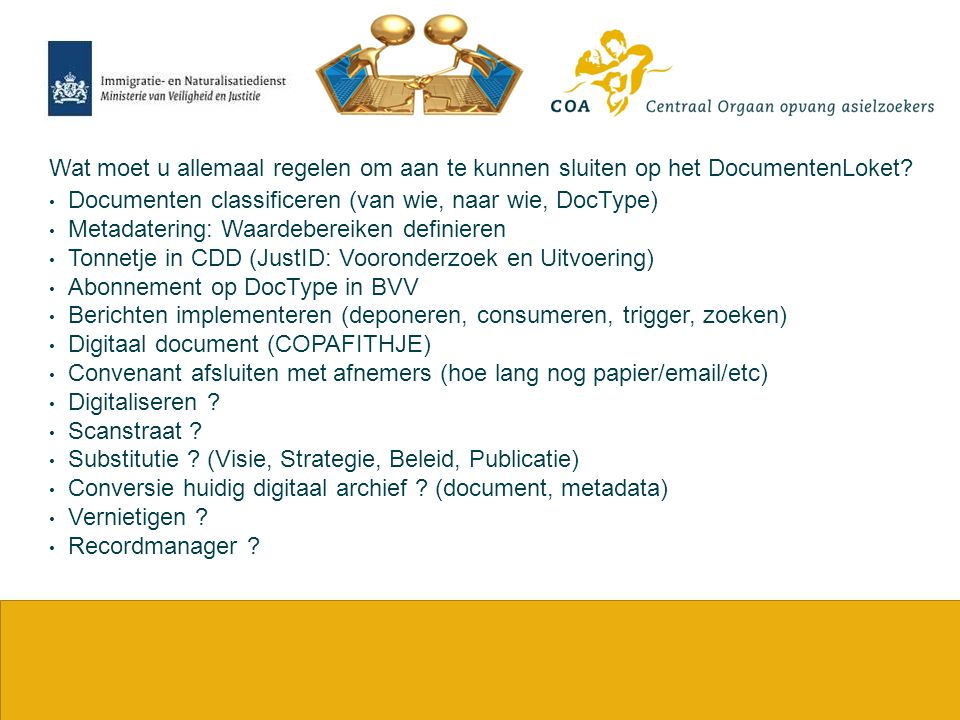 Documenten classificeren (van wie, naar wie, DocType)