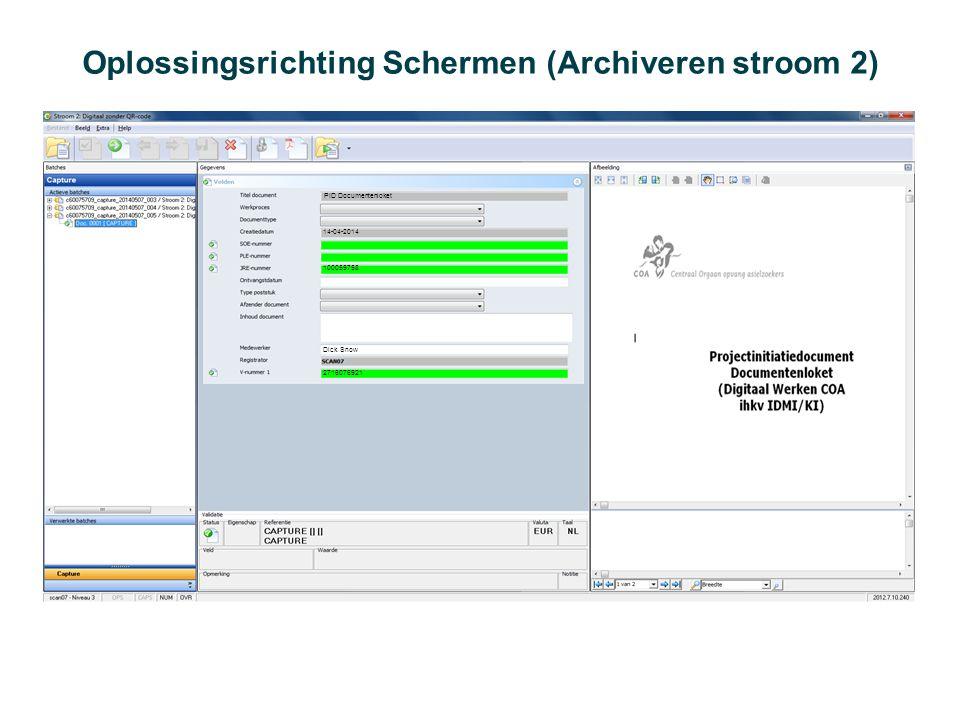 Oplossingsrichting Schermen (Archiveren stroom 2)