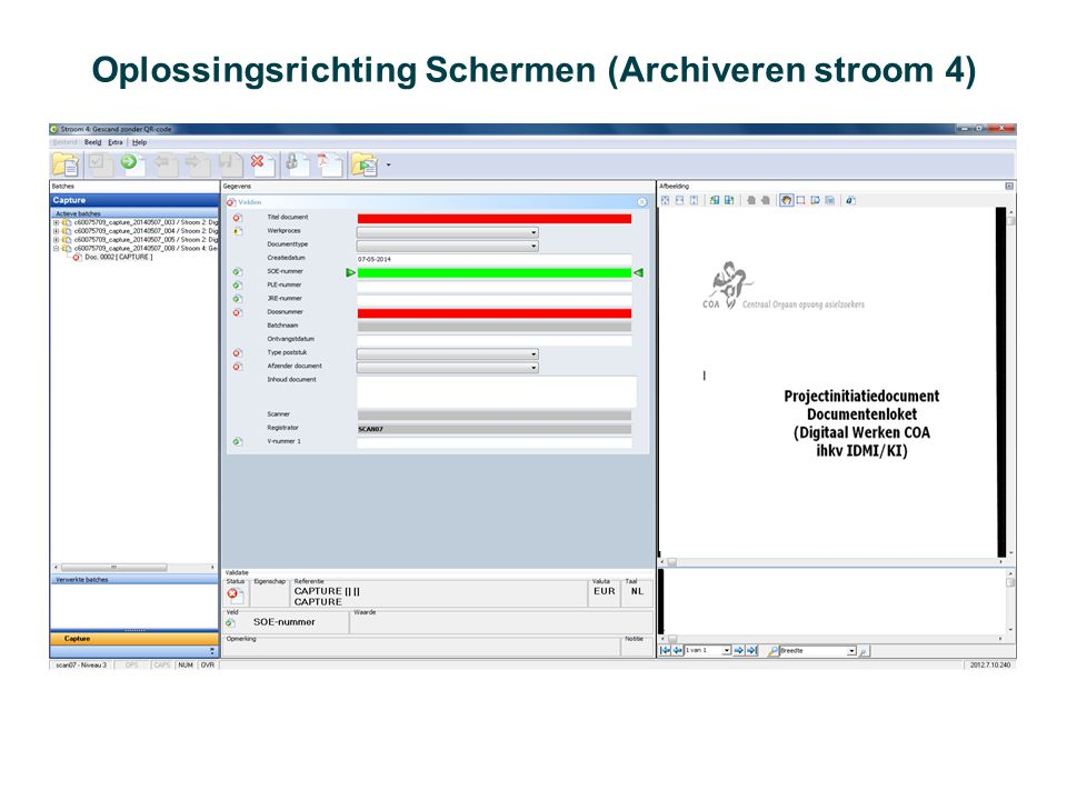 Oplossingsrichting Schermen (Archiveren stroom 4)