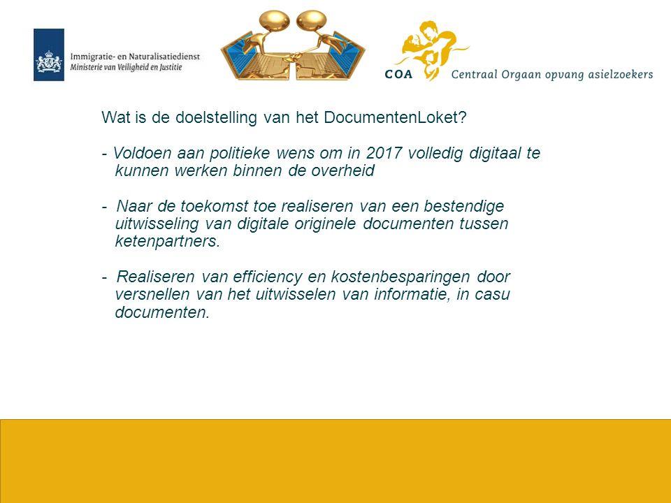 Wat is de doelstelling van het DocumentenLoket