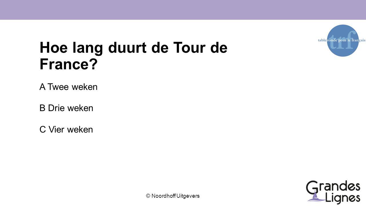 Hoe lang duurt de Tour de France