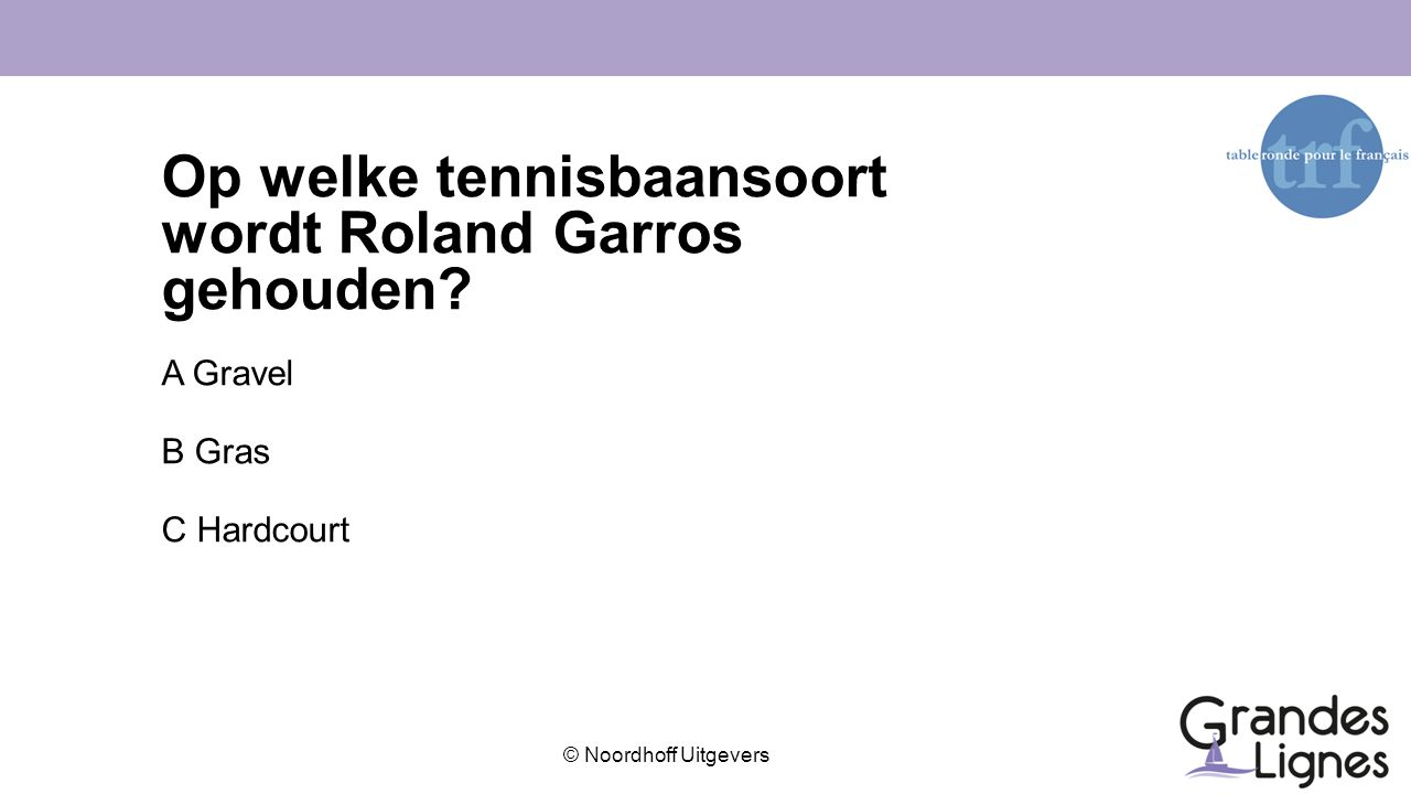 Op welke tennisbaansoort wordt Roland Garros gehouden