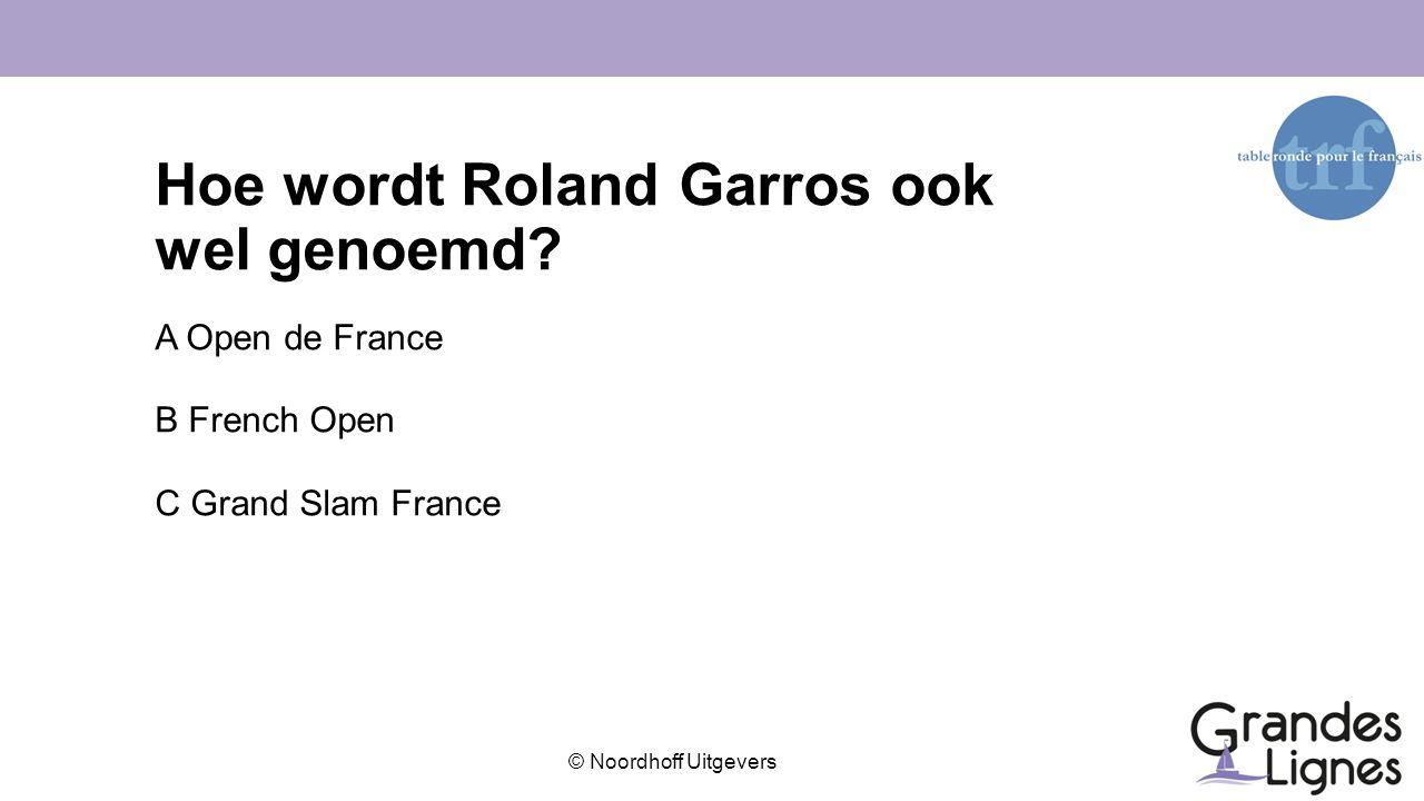 Hoe wordt Roland Garros ook wel genoemd