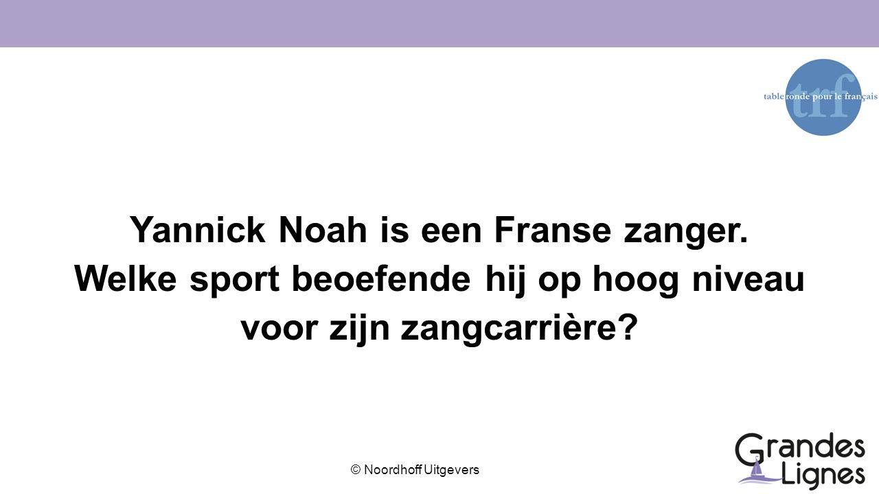 Yannick Noah is een Franse zanger