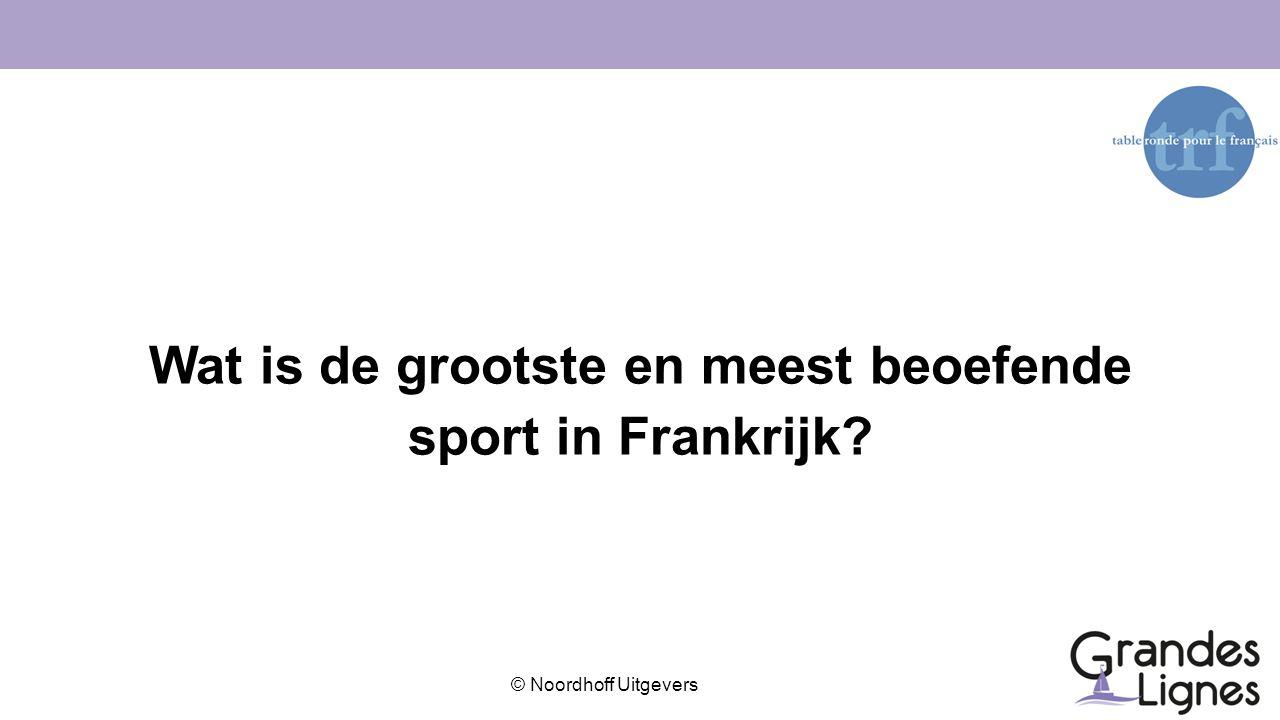 Wat is de grootste en meest beoefende sport in Frankrijk