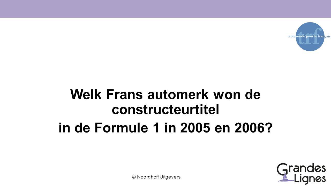 Welk Frans automerk won de constructeurtitel in de Formule 1 in 2005 en 2006