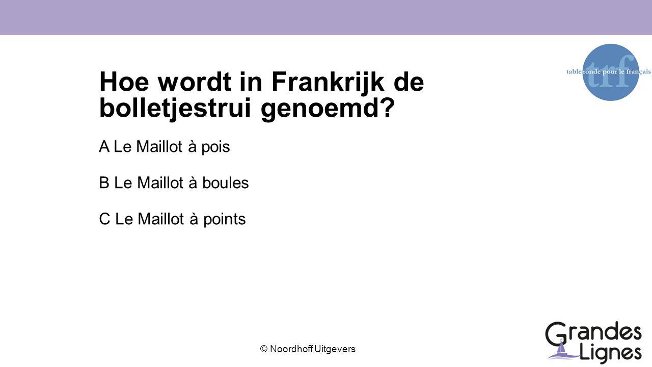 Hoe wordt in Frankrijk de bolletjestrui genoemd