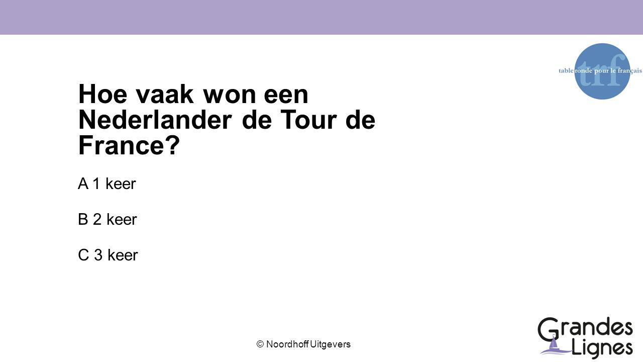 Hoe vaak won een Nederlander de Tour de France