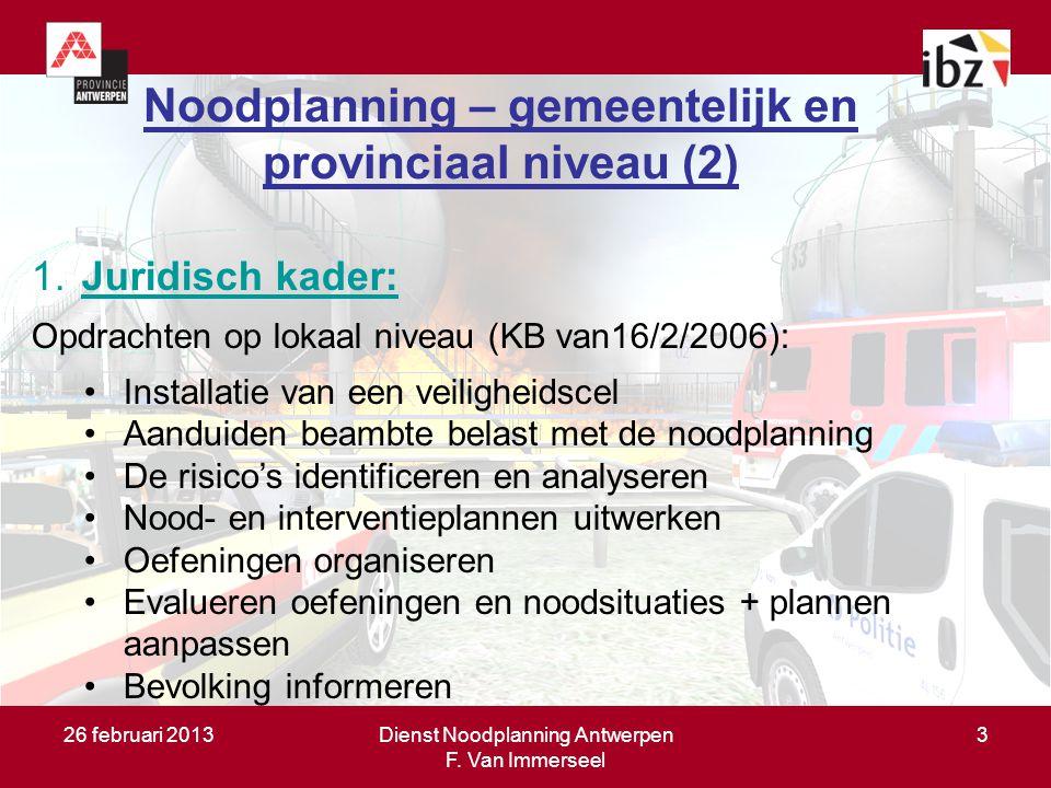 Doel van de noodplanning (1)