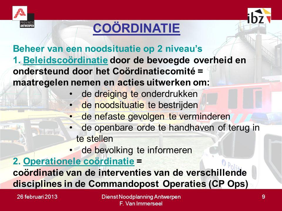 Dienst Noodplanning Antwerpen F. Van Immerseel