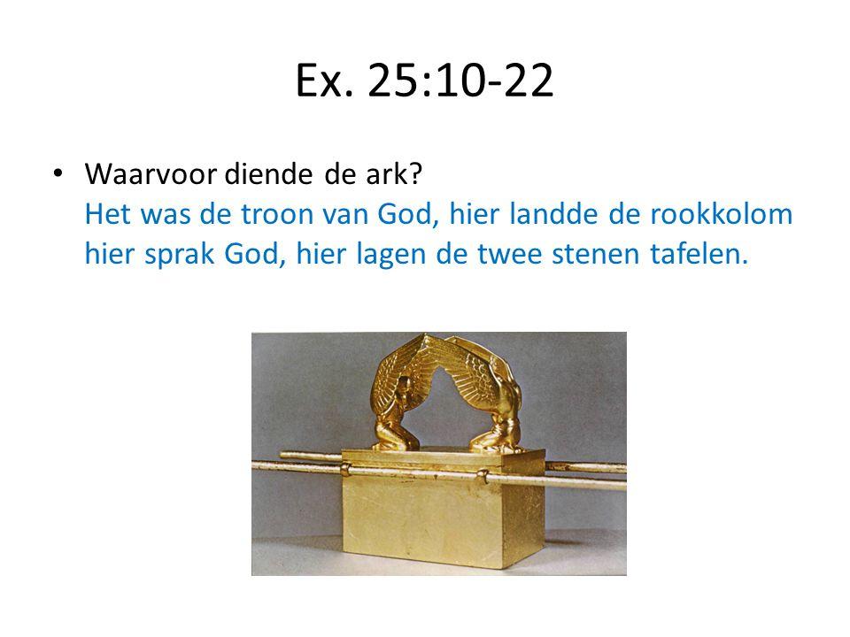 Ex. 25:10-22 Waarvoor diende de ark.
