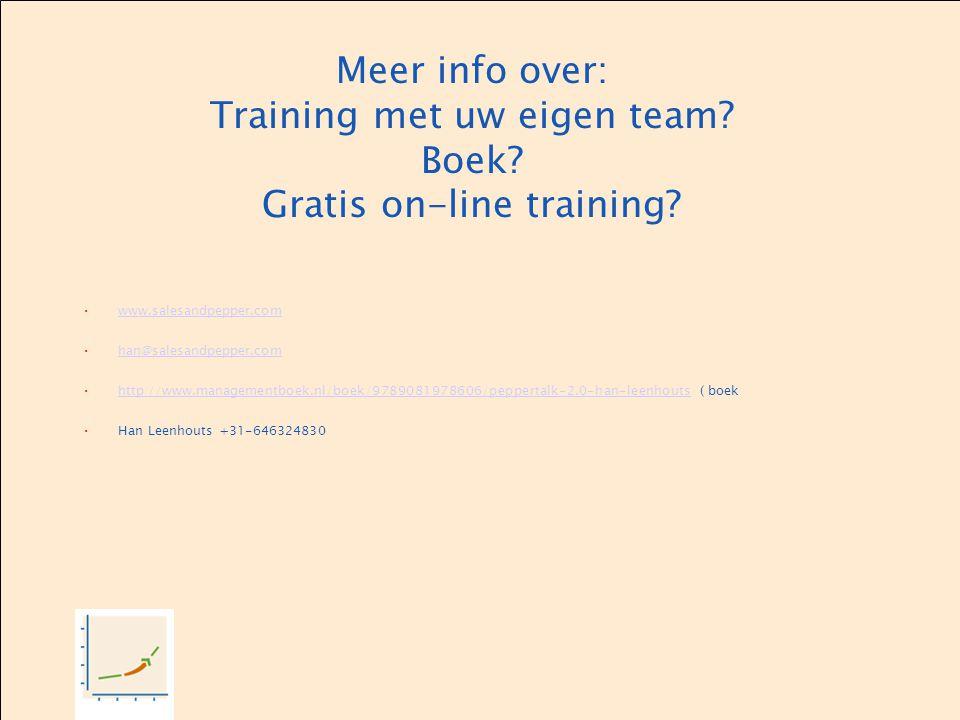 Meer info over: Training met uw eigen team. Boek