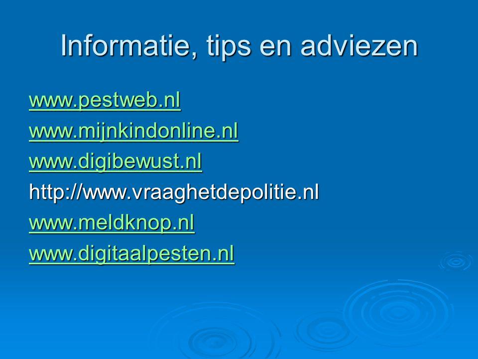 Informatie, tips en adviezen