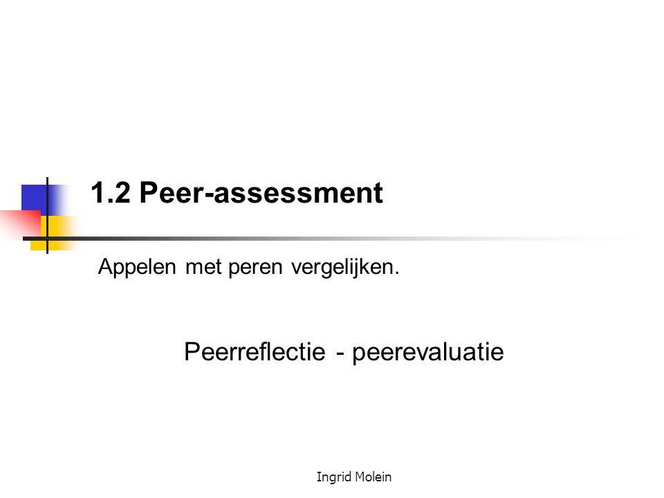 1.2 Peer-assessment Appelen met peren vergelijken.