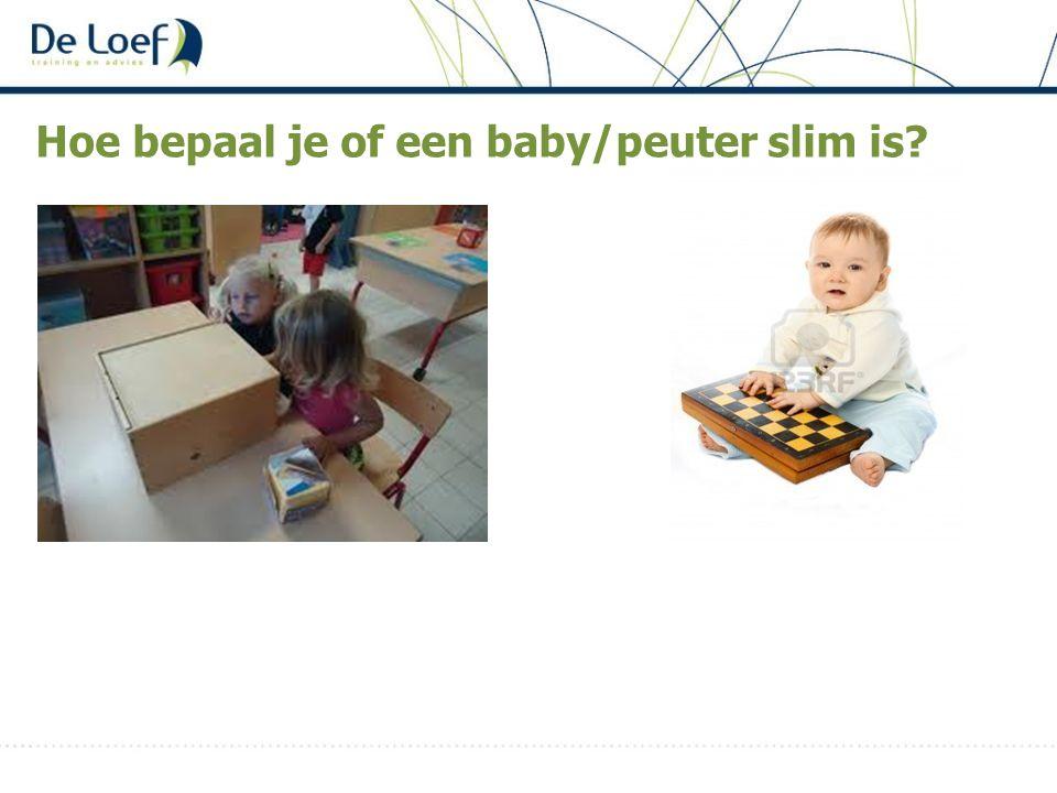Hoe bepaal je of een baby/peuter slim is