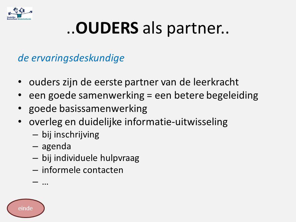 ..OUDERS als partner.. de ervaringsdeskundige