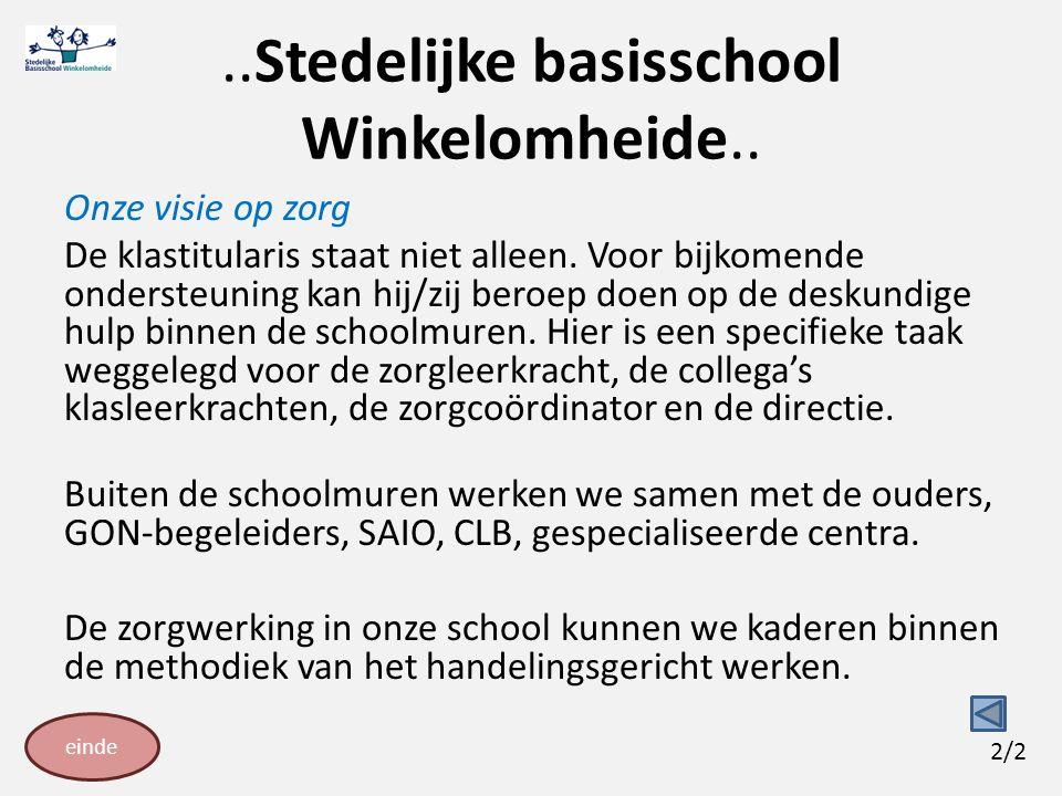 ..Stedelijke basisschool Winkelomheide..