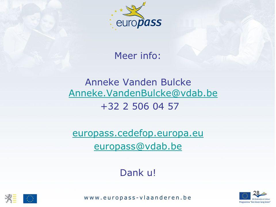 Anneke Vanden Bulcke Anneke.VandenBulcke@vdab.be
