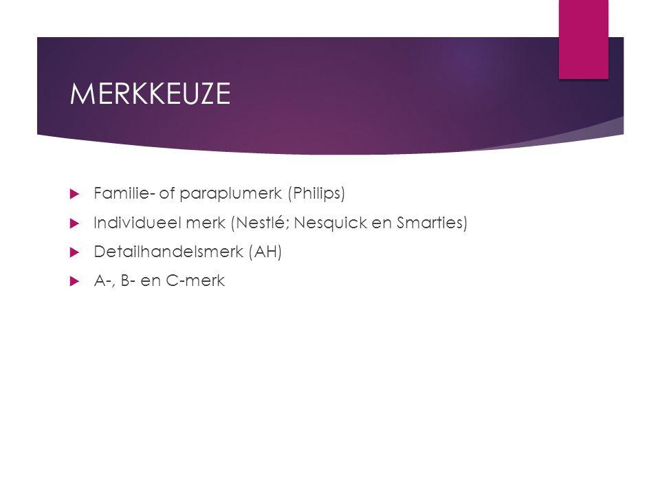 MERKKEUZE Familie- of paraplumerk (Philips)