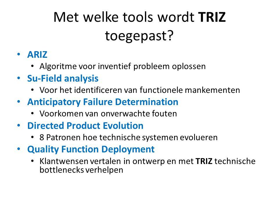 Met welke tools wordt TRIZ toegepast