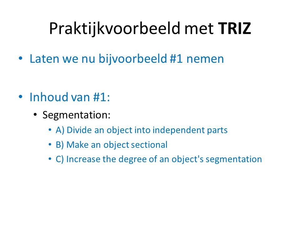 Praktijkvoorbeeld met TRIZ