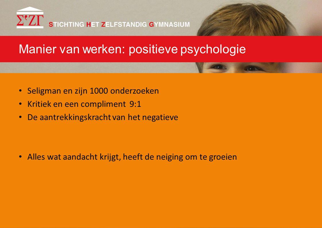 Manier van werken: positieve psychologie