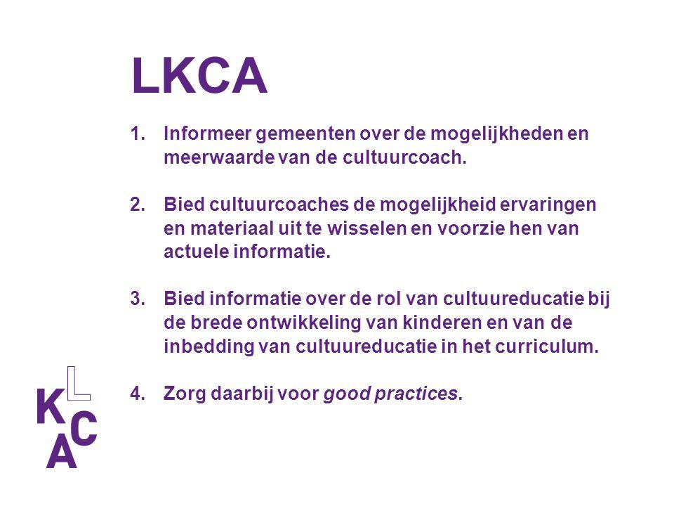 LKCA Informeer gemeenten over de mogelijkheden en meerwaarde van de cultuurcoach.