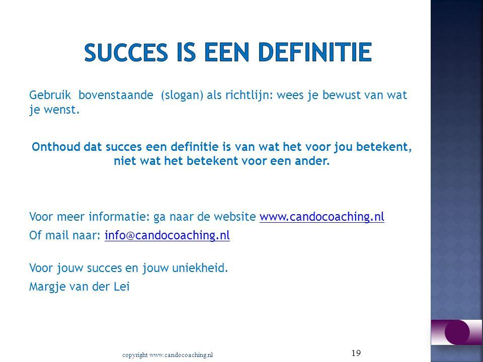 Succes is een definitie