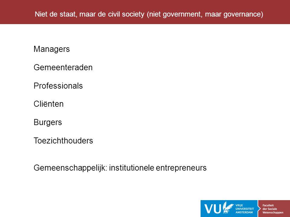 Gemeenschappelijk: institutionele entrepreneurs