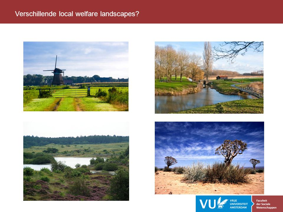 Verschillende local welfare landscapes