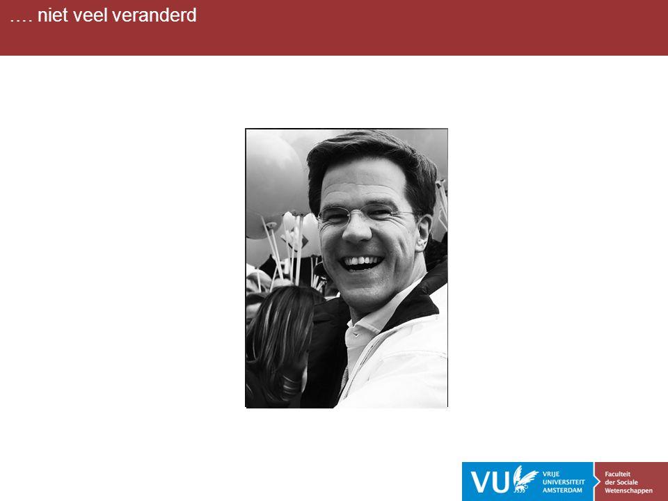 …. niet veel veranderd Kritiek op Rutte,