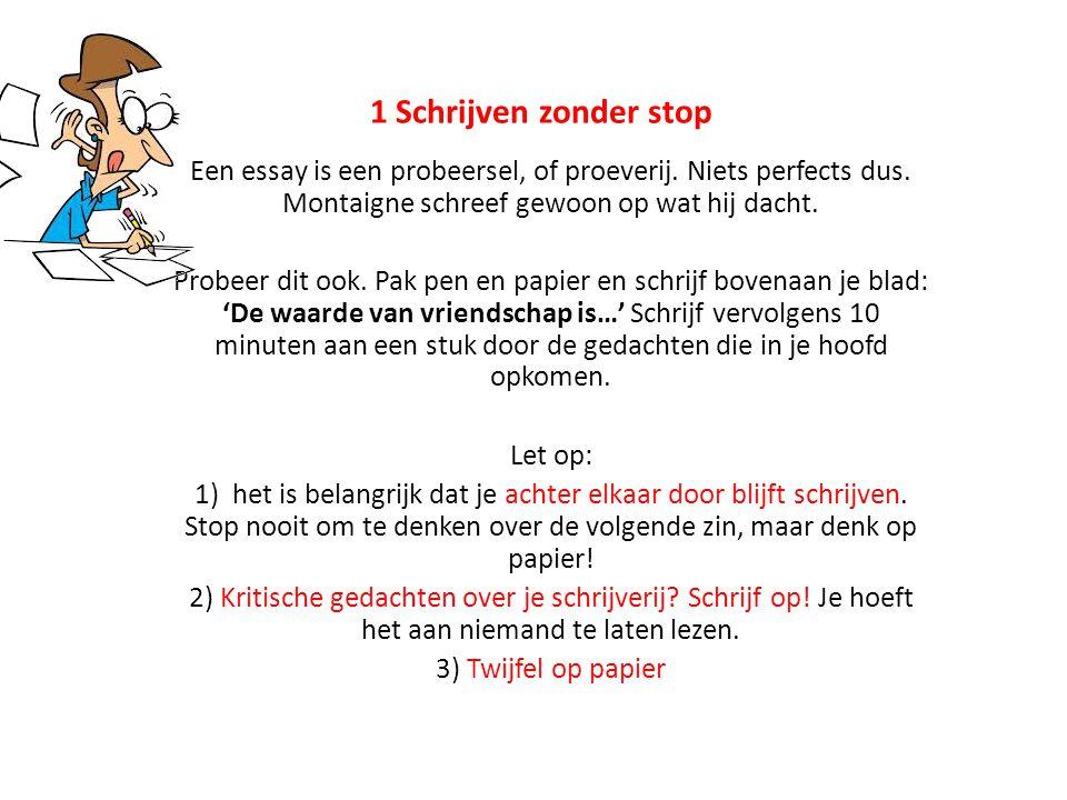 Essay schrijven voorbeeld