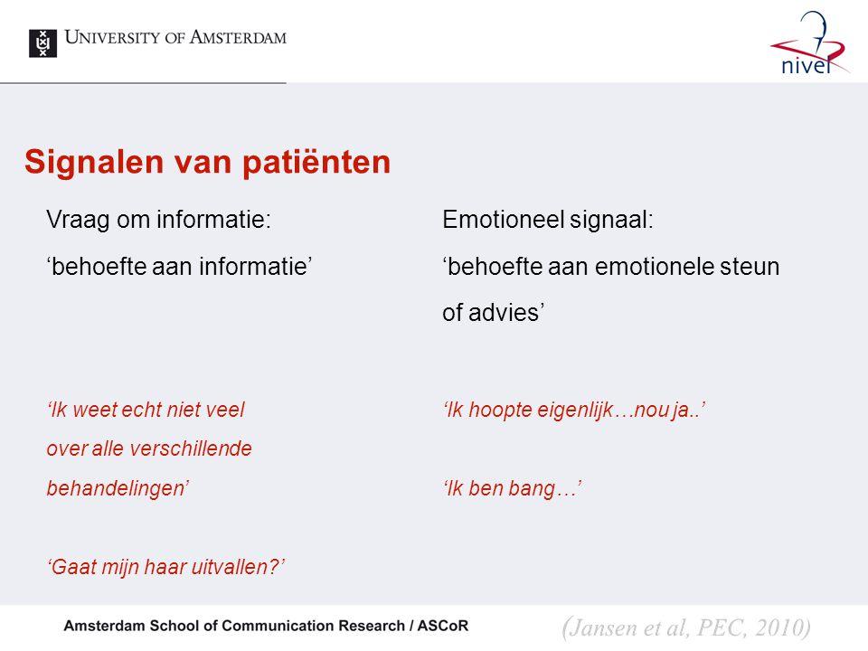 Signalen van patiënten