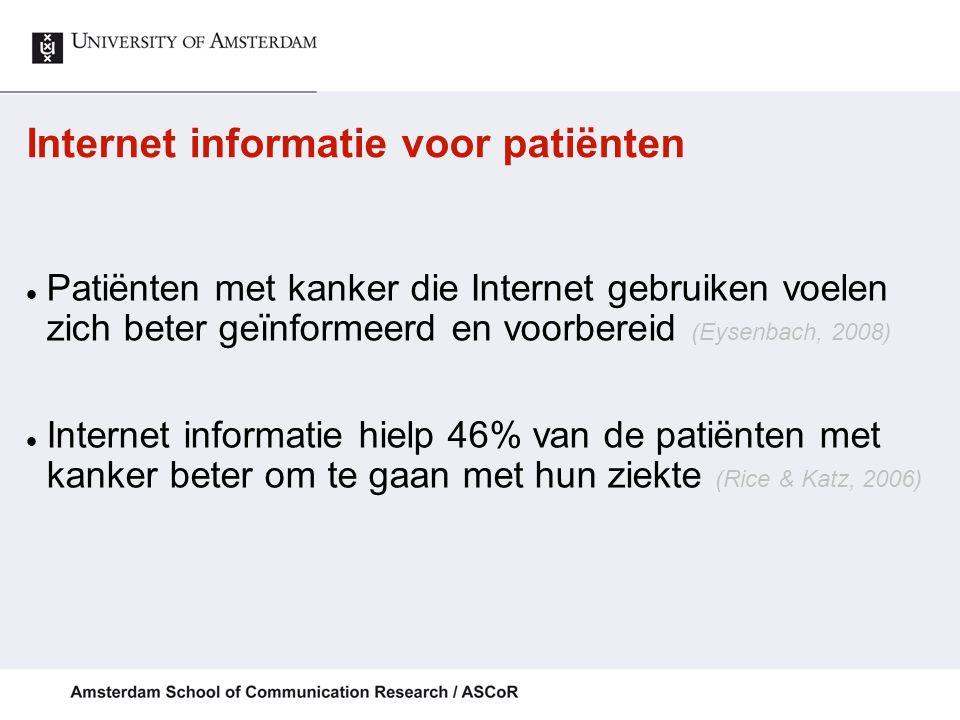 Internet informatie voor patiënten