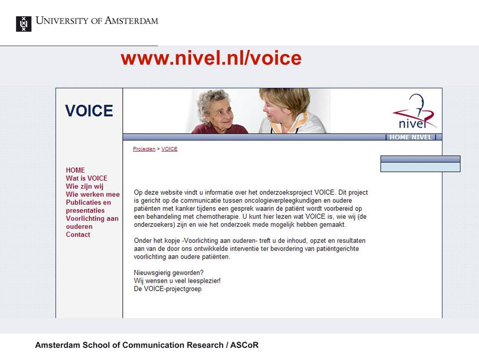 www.nivel.nl/voice